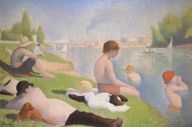 Georges Seurat Bathers at Asnières, 1884