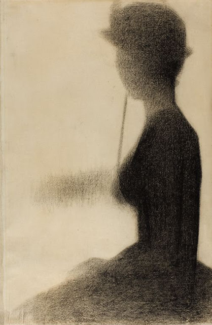 Georges Seurat Seated woman with a parasol study for La Grande Jatte
