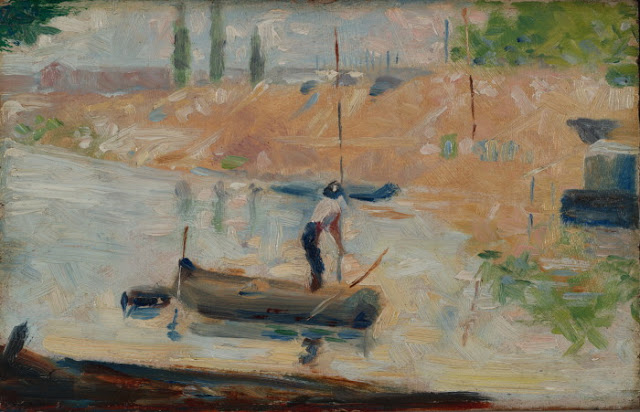 Georges Seurat Man in a Boat, c.1884