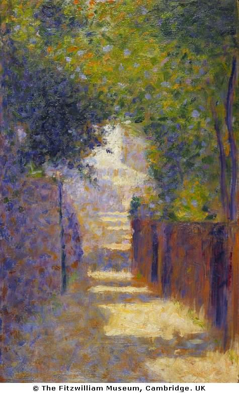Georges Seurat The Rue St. Vincent Paris in Spring, 1884