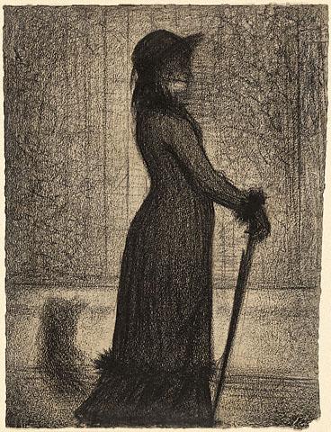 Georges Seurat Woman strolling, ok. 1884