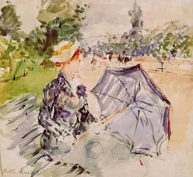 Dama z parasolem, 1885