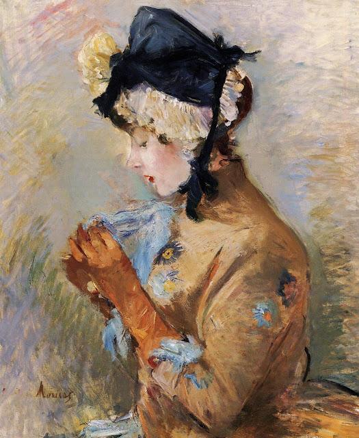 Kobieta w rękawiczkach, 1885