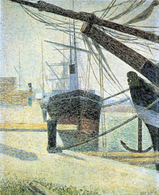 Georges Seurat A corner of the harbor of honfleur,1886