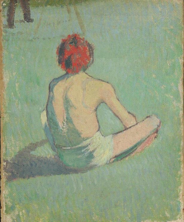 1886, Boy Sitting in the Grass