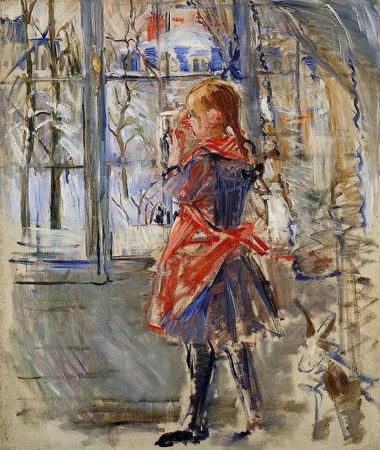Dziecko w czerwonym fartuchu, 1886
