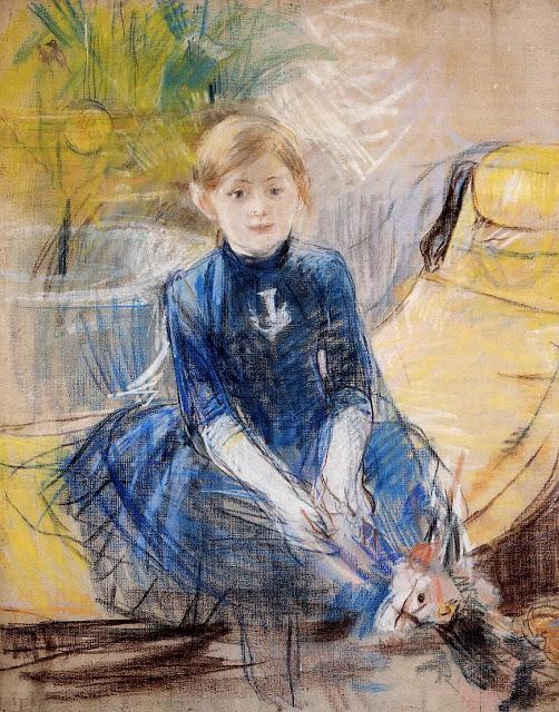 Mała dziewczynka w niebieskim, 1886