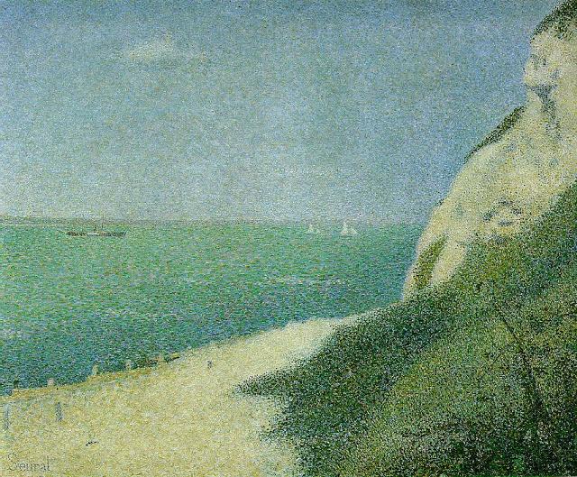 Georges Seurat The shore at bas-butin honfleur, 1886