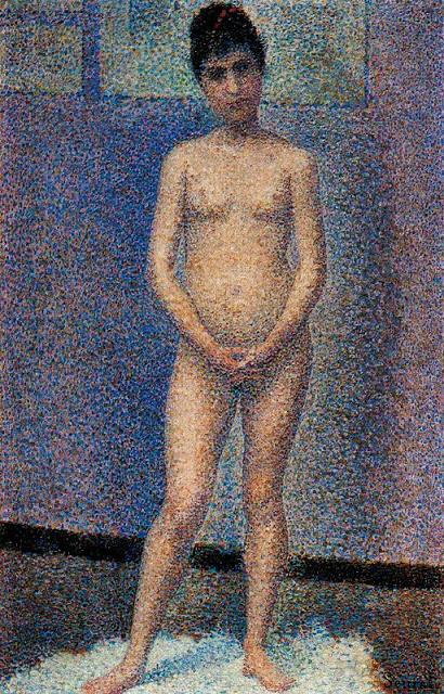 Georges Seurat Standing model, 1887