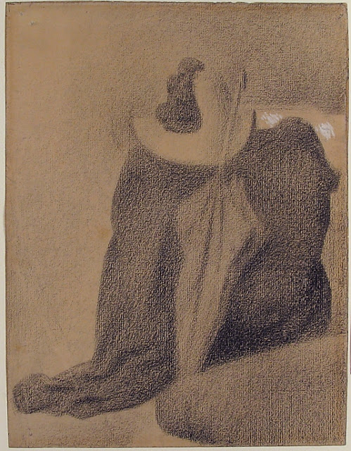 Georges Seurat Still life with hat umbrella and clothes on a chair, 1887
