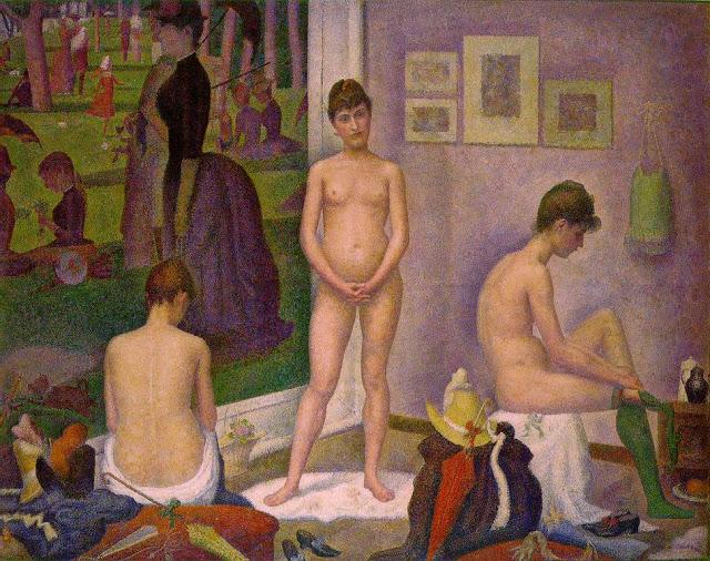 Georges Seurat Les Poseuses, 1887-88
