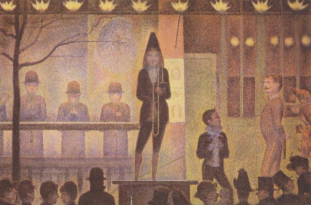 Georges Seurat Invitation to the Sideshow La Parade de Cirque, 1888