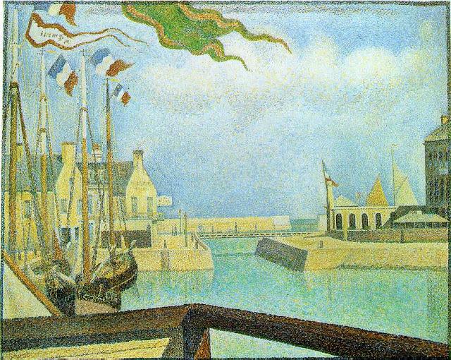 Georges Seurat Sunday at Port-en-Bessin, 1888