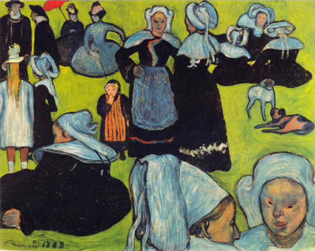 c. 1888-1901, Breton Women in the Meadow