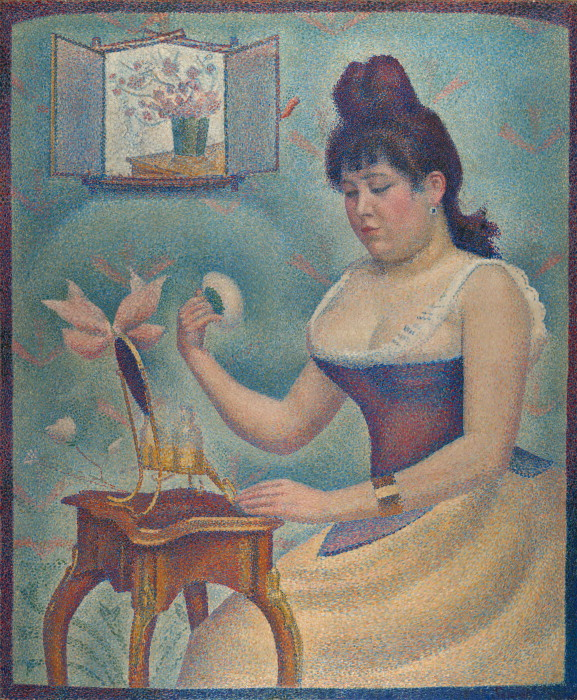 Georges Seurat Young woman powdering herself, 1888-90