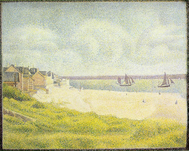 Georges Seurat View of Le Crotoy, 1889