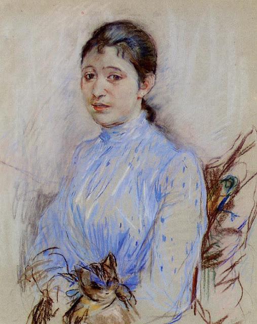 Młoda kobieta w niebieskiej bluzce, 1889