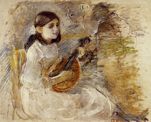 Dziewczynka grająca na mandolinie, 1890