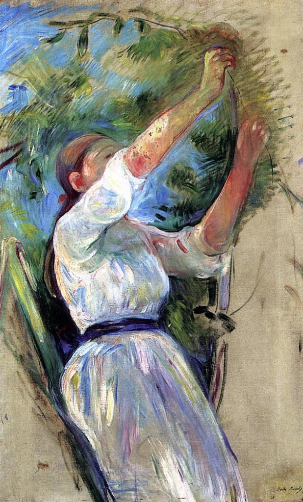 Dziewczyna zbierająca wiśnie, 1891