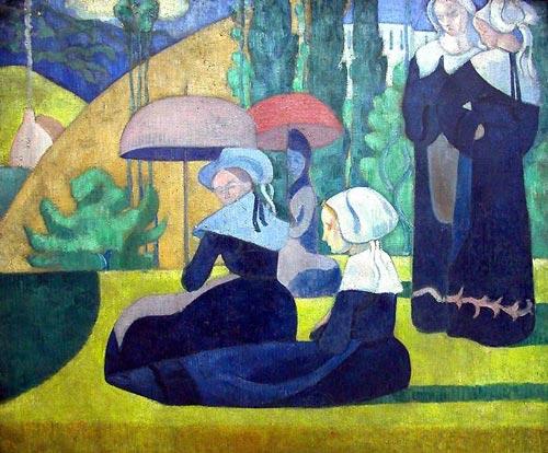 1892, Breton Women with Parasols
