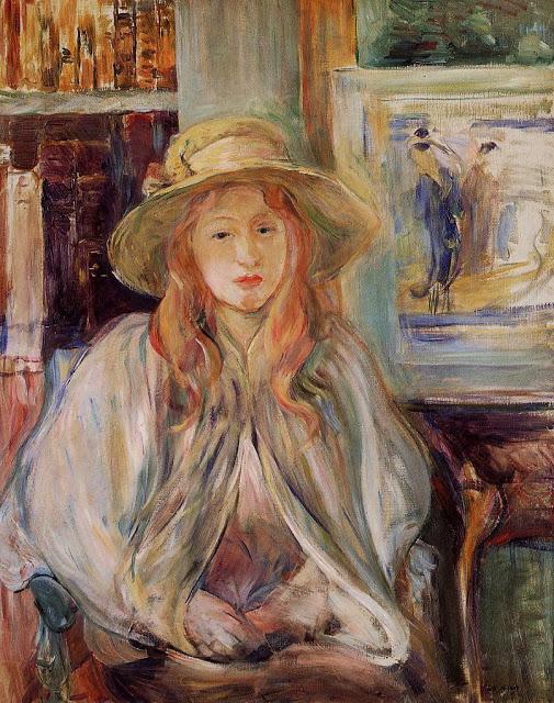Dziewczynka w kapeluszu słomianym, 1892