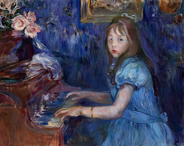 Lucie Leon przy pianinie, 1892
