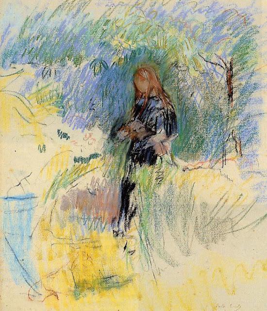 Młoda kobieta z pieskimem na ręku, 1892