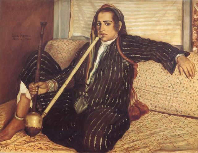1900, Woman Smoking Hashish