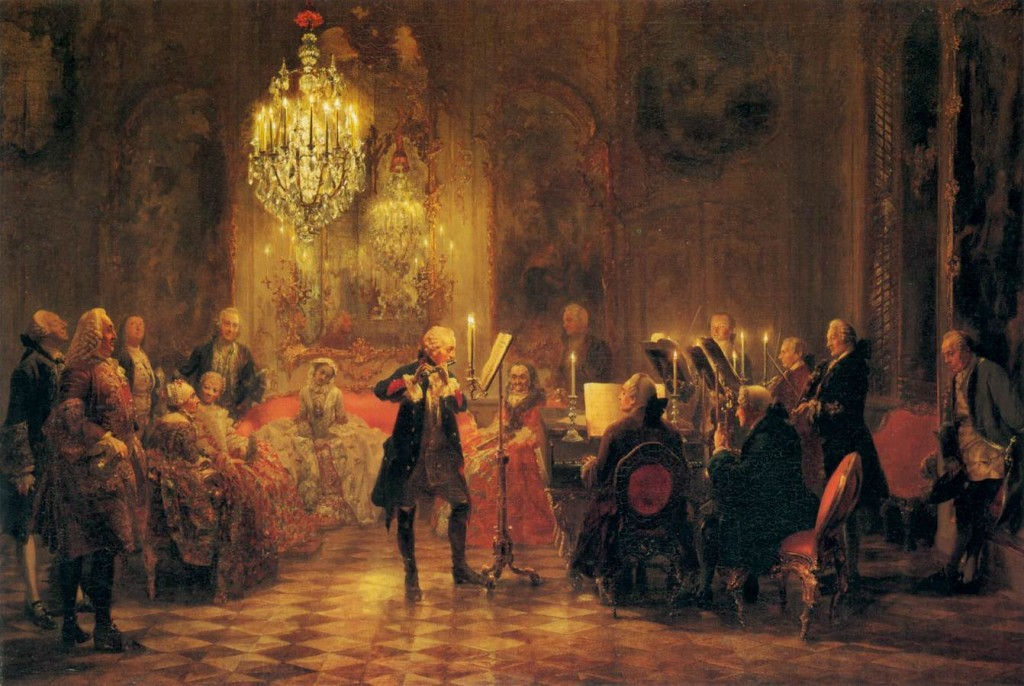 A Flute Concert of Frederick the Great at Sanssouci, 1852