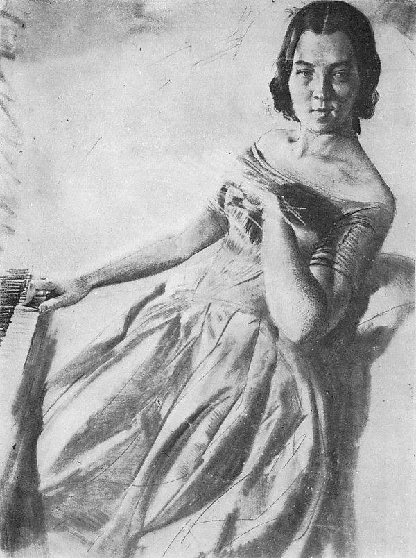 Frau Maerker am Klavier, 1846