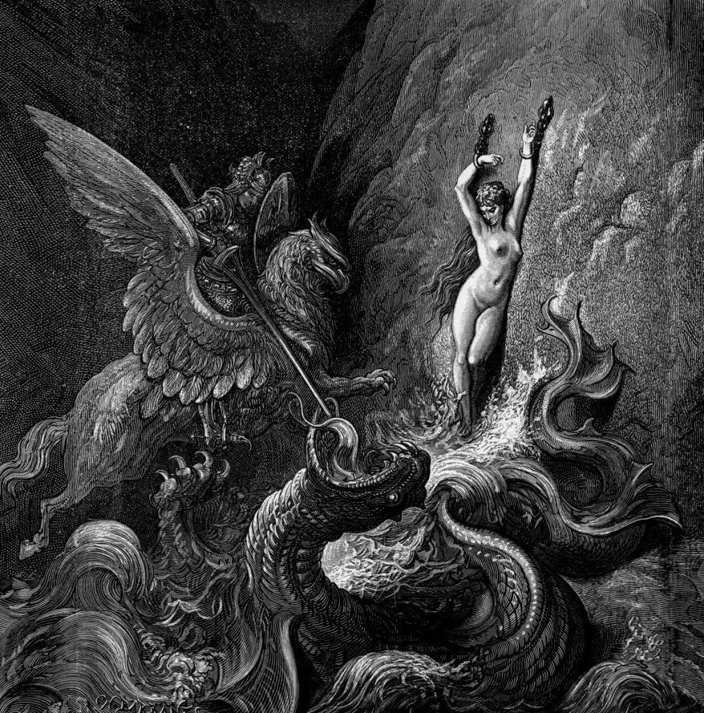 "Andromea (ilustracja z ""Orlanda Szalonego"" Lodovico Ariosto)"