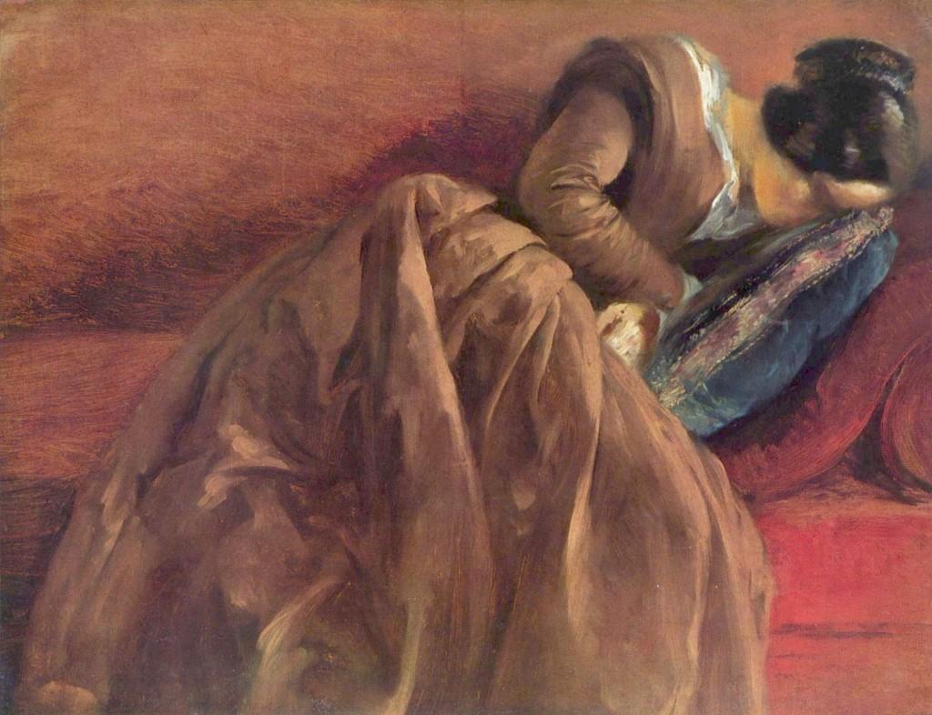 Emilie Menzel Asleep, 1848