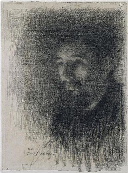 Ernest Laurent, portrait Georgesa Seurata, ok. 1880