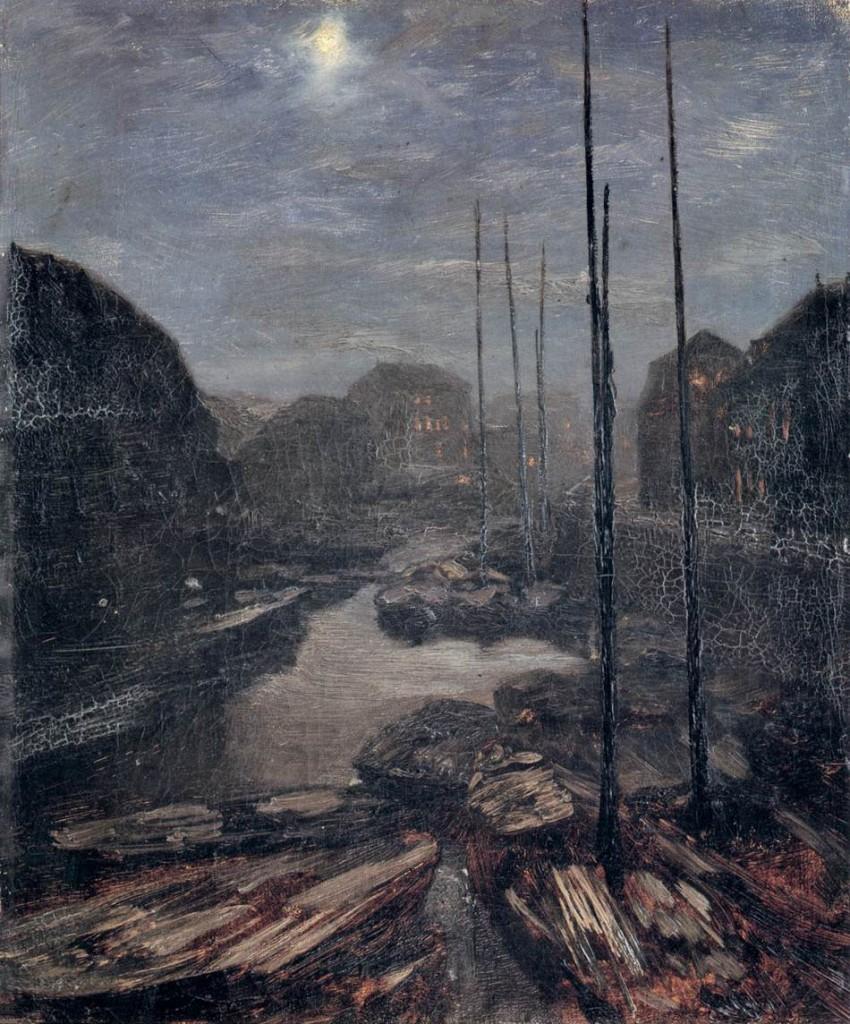 Moonlight on the Friedrichskanal in Old, 1856