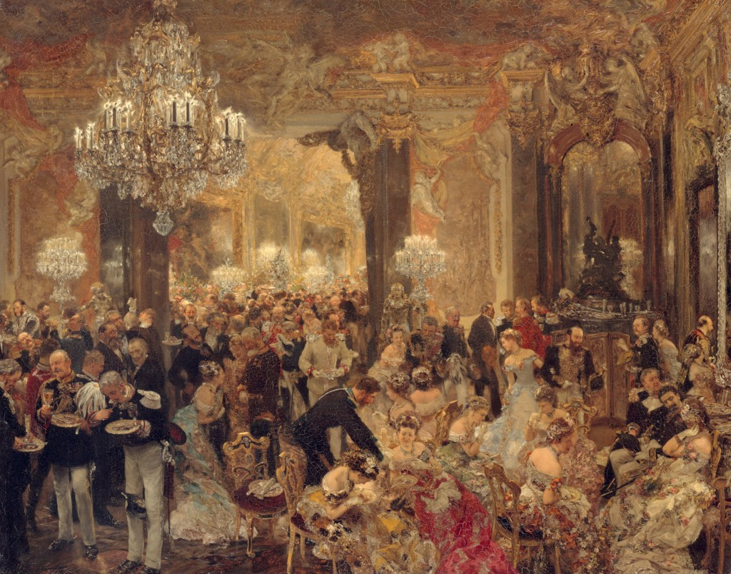 Kolacja na balu, 1878