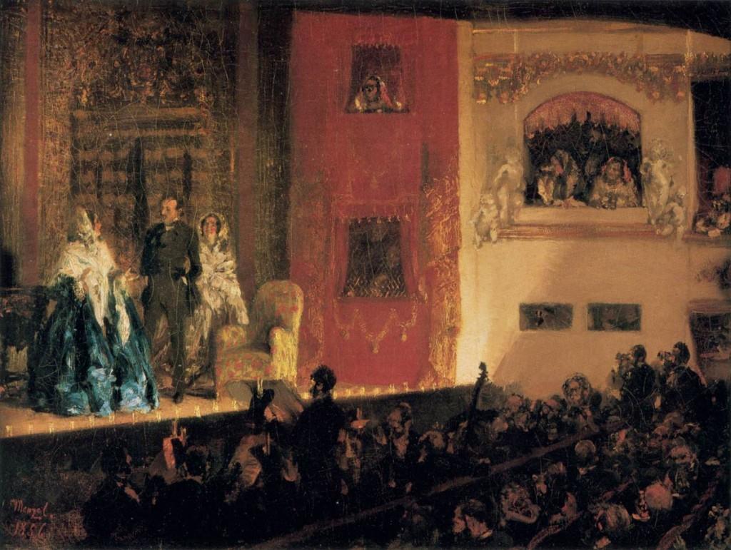 Théâtre du Gymnase w Paryżu, 1856