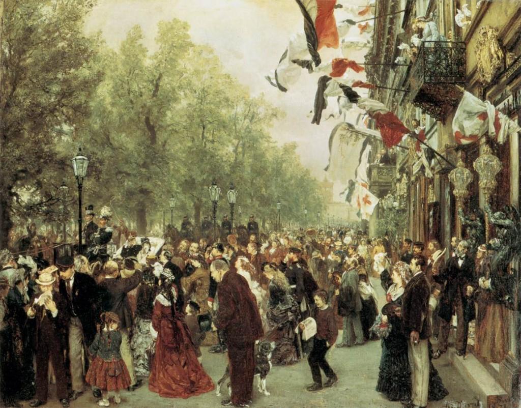 Wyjazd Wilhelma I na front 31 lipca 1870, 1871
