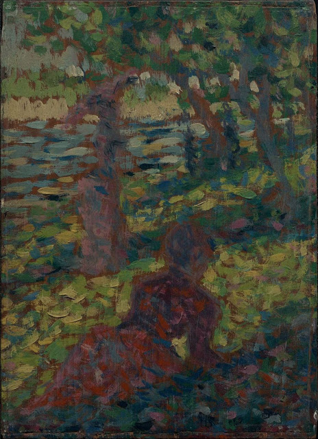 Georges Seurat Woman in a Park
