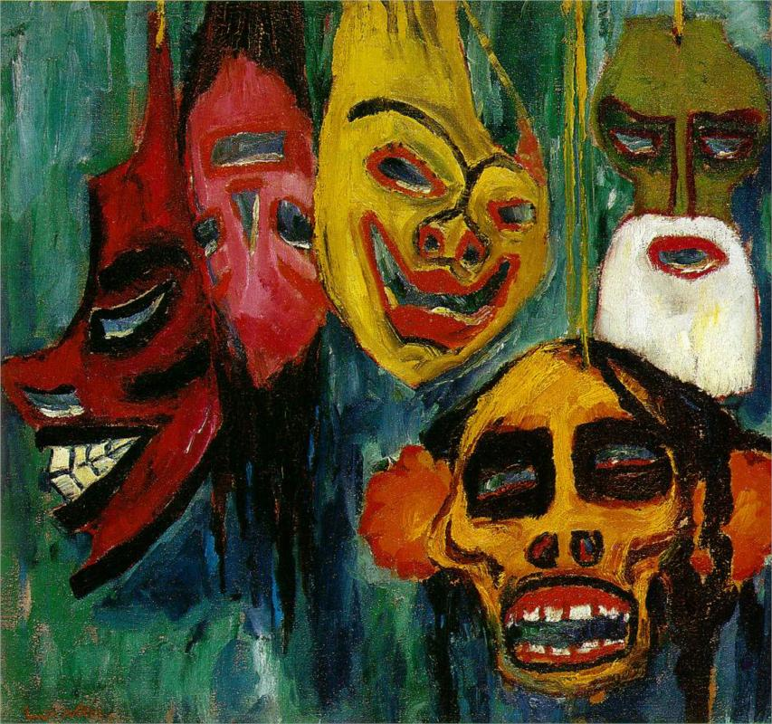 Still life with masks, 1911