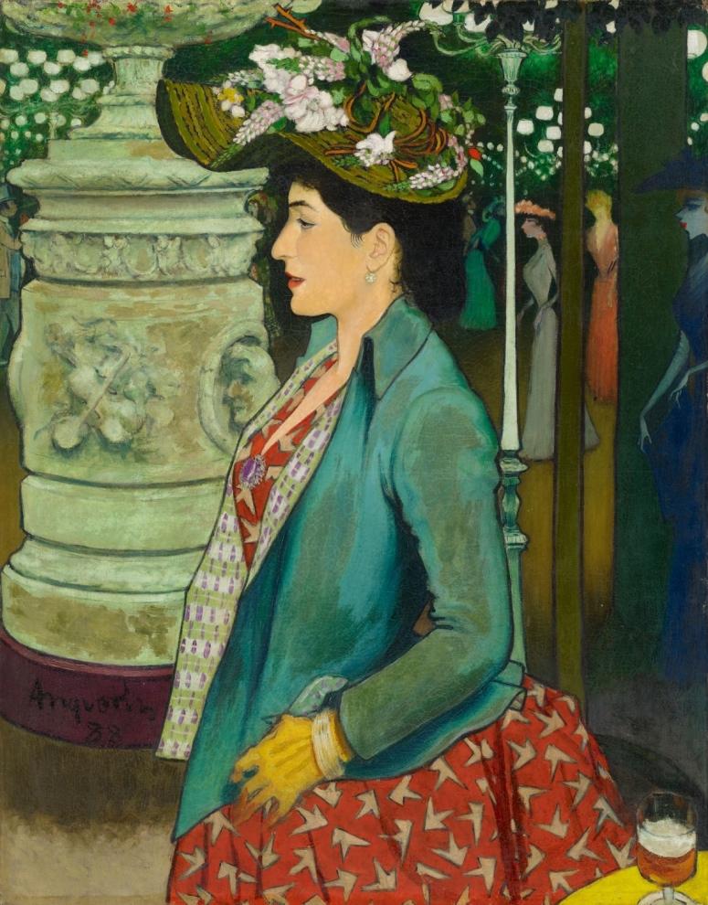 Elégante de profil au Bal Mabille, 1888