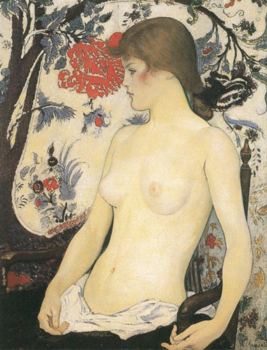Jeune femme demi nue, 1890