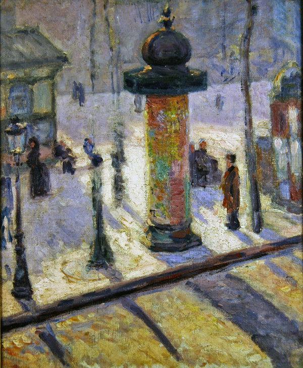 Kiosk on the Boulevard Clichy, 1886-1887