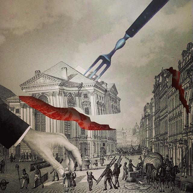 surrealistyczne kolaże Q-ta / niezlasztuka.net
