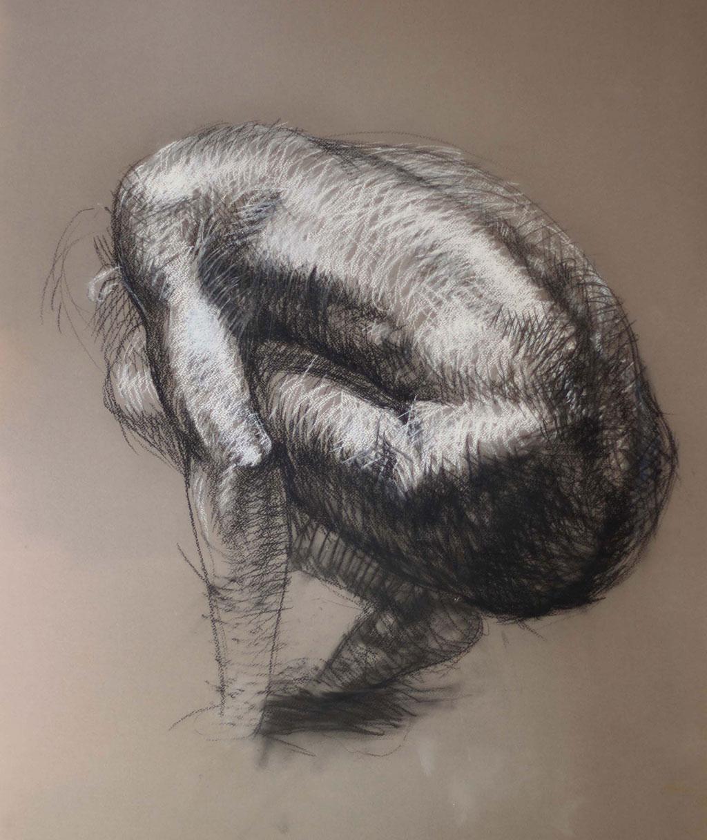 drawing_dominik_wdowski_crouching_boy_2004