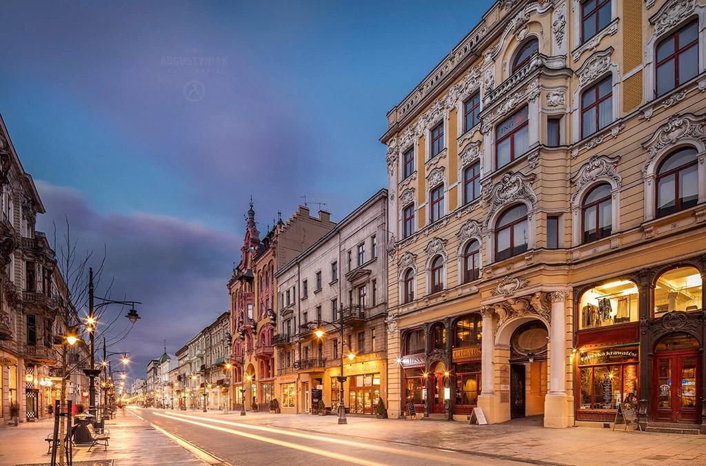 Piotrkowska Street, photo by © Paweł Augustyniak, www.pawelaugustyniak.pl, fb.com/pawelaugustyniakfotografia