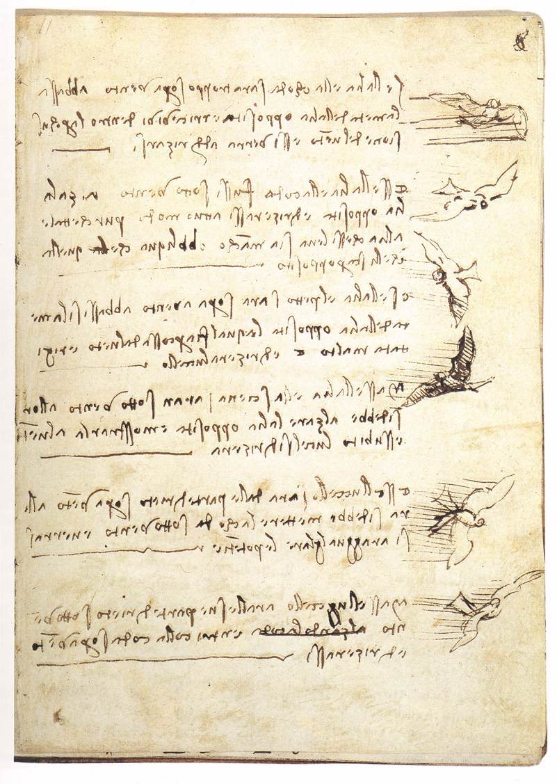 Leonardo da Vinci Codex on the Flight of Birds