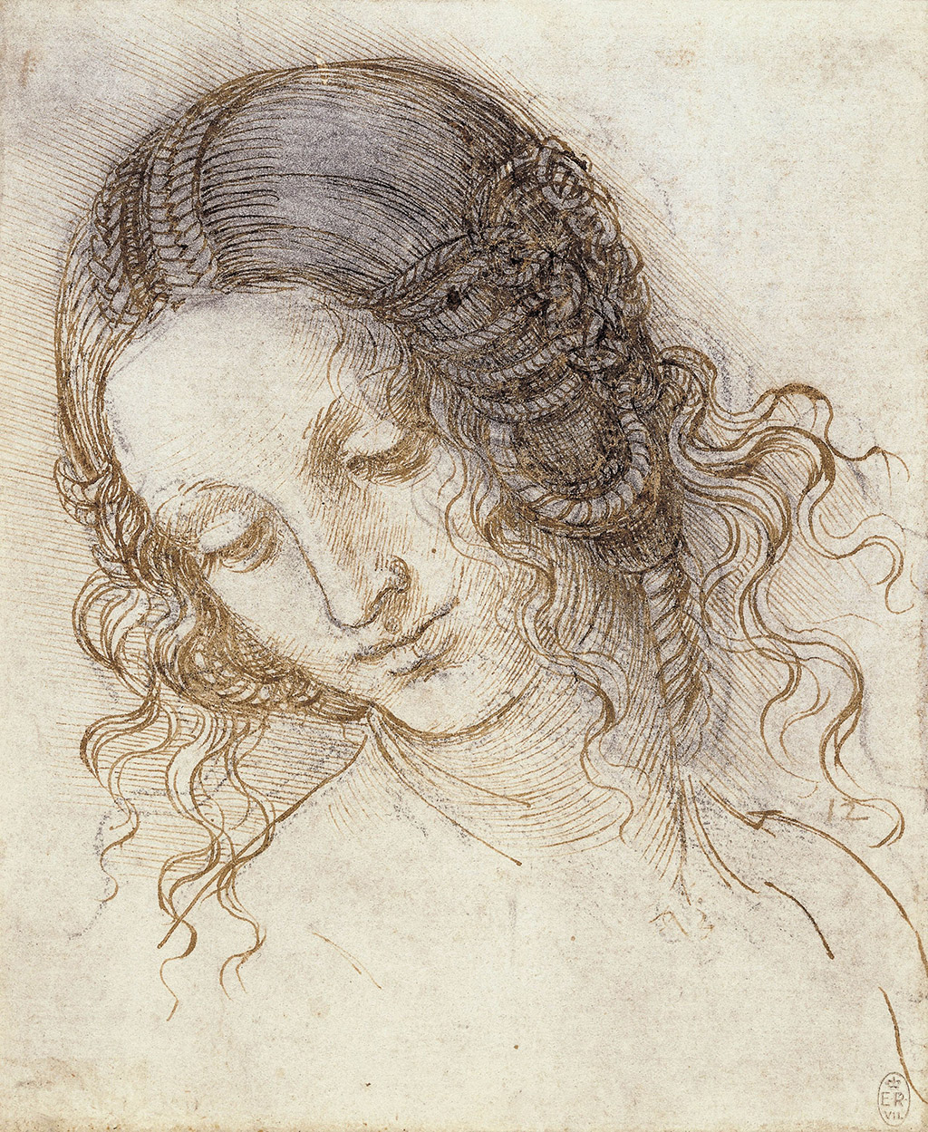 Leonardo da Vinci Leda's Head