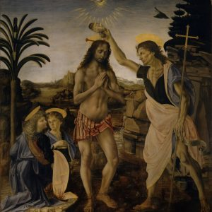 The Baptism of Christ (Verrocchio and Leonardo da Vinci)