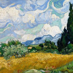 Vincent van Gogh A Wheatfield with Cypresses | 1889, Museum of Modern Art, New York