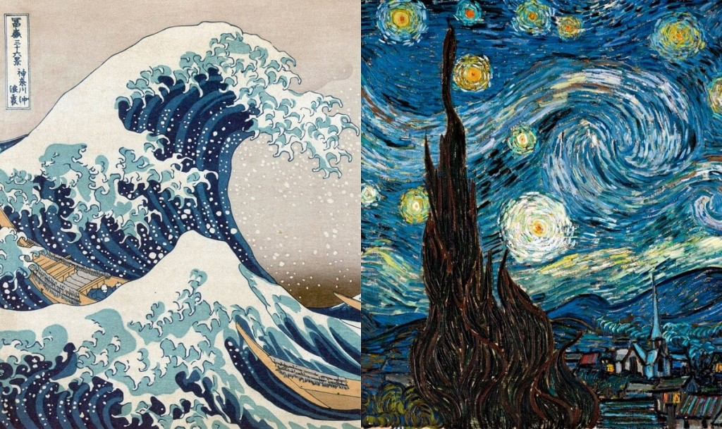 Hokusai Katsushika, The Great Wave off Kanagawa, Vincent van Gogh